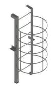 Лестница с ограждением из дуг С4