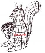 Белка с орешками (каркас)