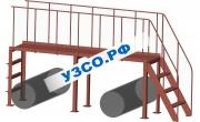 Лестничный переход над трубопроводами 3650.Л-3