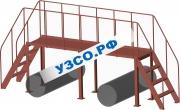 Лестничный переход над трубопроводами 3650.Л-5