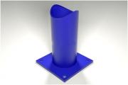 Опоры рубчатые крутозагнутых отводов - тип ТР