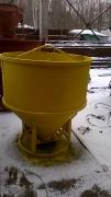 Бадья для бетона круглая с клешневым затвором БКн-0,5 с рукавом 1,5 метра выход 200 мм .