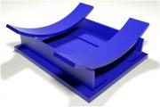 Опоры рубчатые крутозагнутых отводов - тип УП
